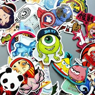 Stickers *Luck of The Draw*10 NEW Random Pop Culture Sticker Art Music Movies Fashion