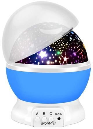 Moredig Night Light Projector, 360 Degree Rotation Kids Projector Night Light with 8 Multicolor