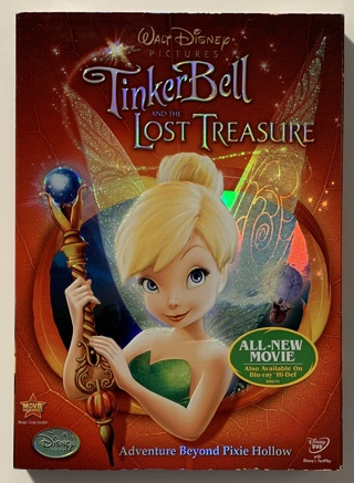 Walt Disney Tinker Bell and the Lost Treasure DVD Movie - Brand New Factory Sealed!