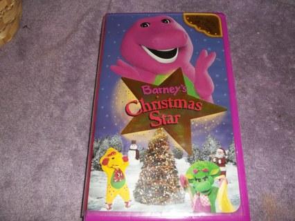 barneys christmas star vhs used kids movie hard clamshell - Barney Christmas Movie