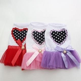 Dog Cat Princess Tutu Dog Dress Love&Bow Pet Puppy Skirt Summer Clothes