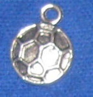 1 New silver tone soccer and football ball charm