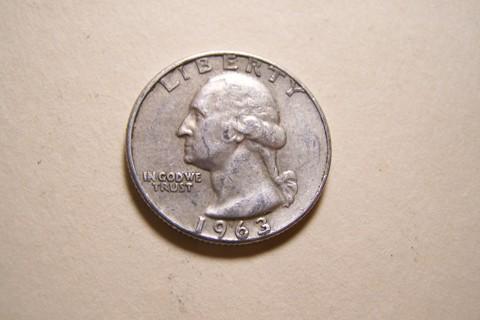 Silver 1963-D Washington Quarter