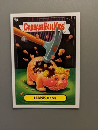 2012 Topps Garbage Pail Kids Card #21a • HANK BANK • New • See Photos