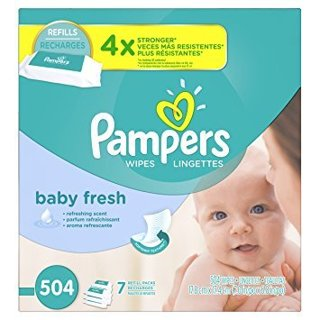 GIN (1) 7X PAMPERS BABY FRESH WIPES BOX (504CT) FREE SHIPPING