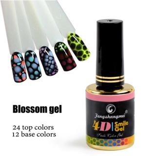 fengshangmei 12ml Blossom Gel Nail Art Rose Design Booster Gel Varnish Booming Gel For Nails