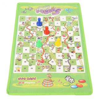 Snake Ladder Educational Kids Children Toys Interesting Board Game Set Portable Flying Chess
