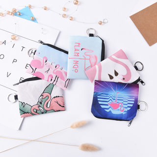 1PC Flamingo Coin Purse Women Zero Wallet Female Clutch Change Purse Zipper Key