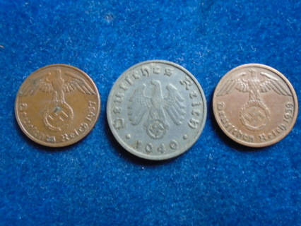 1937 1939 & 1940 NAZI GERMANY THIRD REICH COINS!