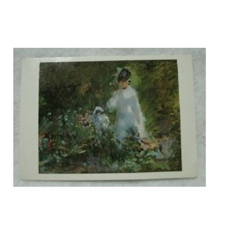 Edouard Manet 1876 Painting A Young Women Among Flowers Post Card