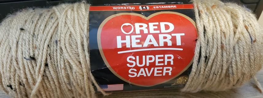 "NEW - Red Heart Super Saver Yarn - ""Buff Fleck"""