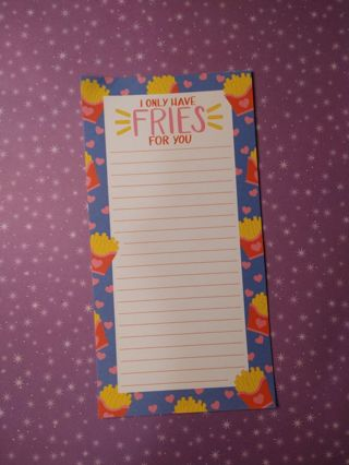 Kawaii Only Have Fries For You Memos
