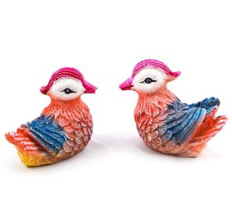 Aqua KT Home Garden Bird Parrot Terrarium Miniature for Outdoor Decoration