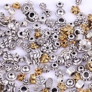 90PCs Mixed Silver/Golden Flower Caps/Spacer Beads For Jewelry Making