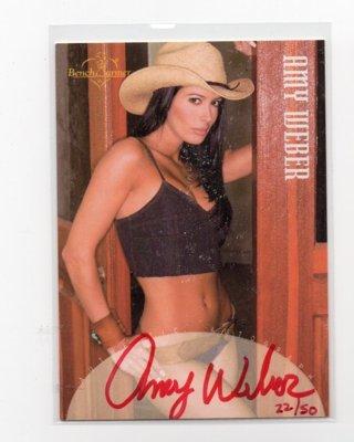 2002 Benchwarmer Amy Weber Autograph 22/50