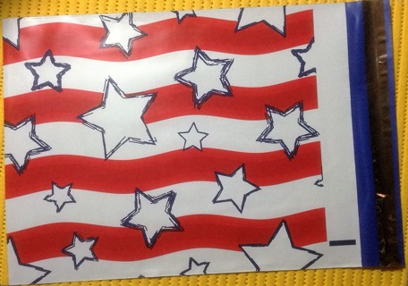 "7 STARS & STRIPES 10"" x 13"" Poly Mailers"