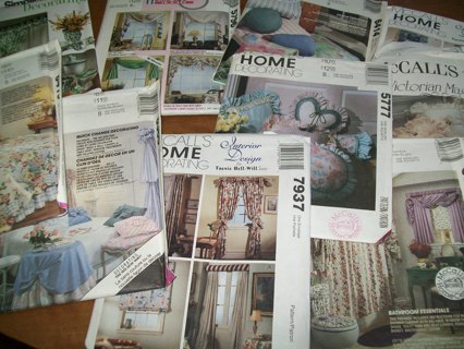 Free Mccalls Simplicity Sewing Home Decor Patterns Lot Of