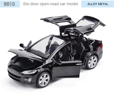 1:32 Tesla Model X90 Alloy Car Model High Simulation Metal Vehicles
