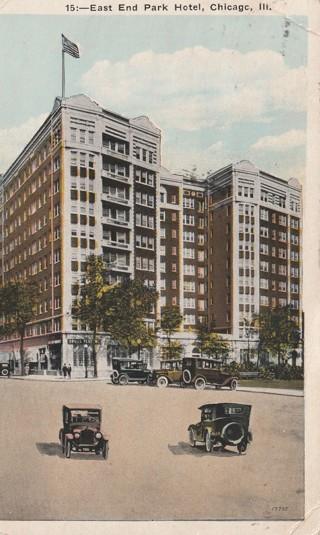 Vintage Used Postcard: 1929 East End Park Hotel, Chicago, IL