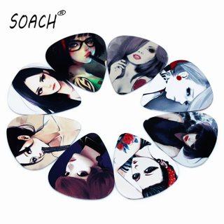 SOACH 10pcs 0.71mm high quality two side earrings pick design guitar accessries pick guitar picks