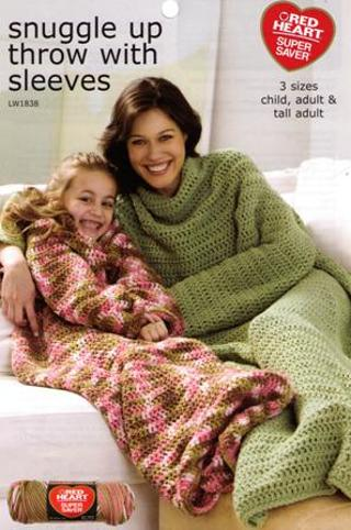 Free Crochet Snuggle Up Snuggie Throw With Sleeves Pattern