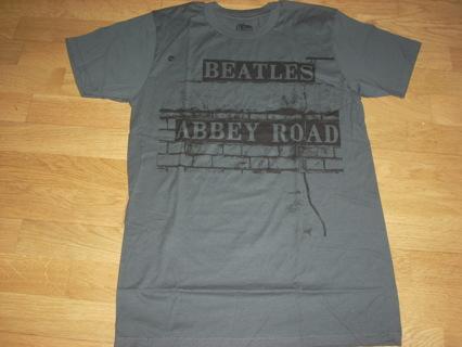 BEATLES ABBEY ROAD TEE SHIRT - CHARCOAL GREY