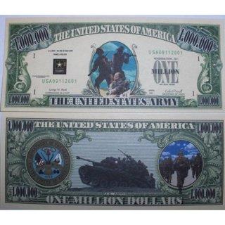 U.S. Army One Million Dollar Bill