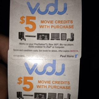 Free: $10 Vudu Movie Credits Redeem For Movie Of Your Choice