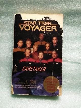 Vintage 1995 Star Trek Voyager Caretaker Paperback Book