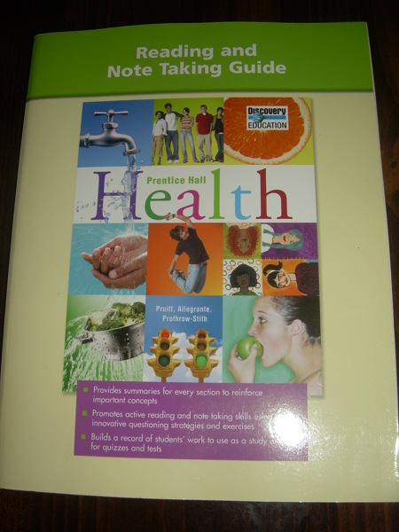 Free Reading Note Taking Guide Prentice Hall Health