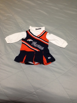 check out cd3d2 f7531 Free: Denver Broncos Cheerleader Outfit Size 12Mos - Baby ...