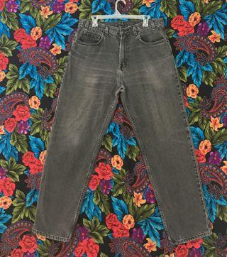 Men's Jeans Grey Jean Pants Size 36 x 32