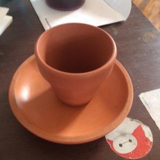 Flower pot and saucer
