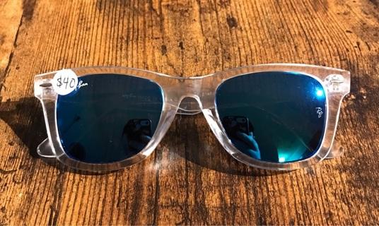 Clear & Blue Fashion Wayfarer Unisex Women's Men's Adult Sunglasses New