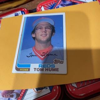 1982 topps tom Hume baseball card