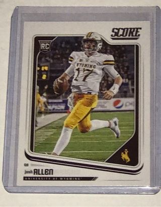 Josh allen RC score 2018 QB is on fire invest now