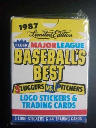 1987 Fleer Major League Baseball Best Sluggers vs. Pitchers Complete Set---Sealed