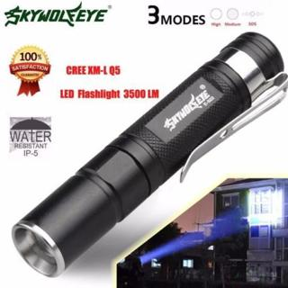 Waterproof 3500LM Pocket LED Flashlight Zoomable LED Torch Mini Penlight Light