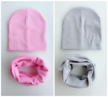 kids Hat winter children's infant Baby Hat Boy Girl Cap Kid cotton soft Beanie bonnet Collar Scarf