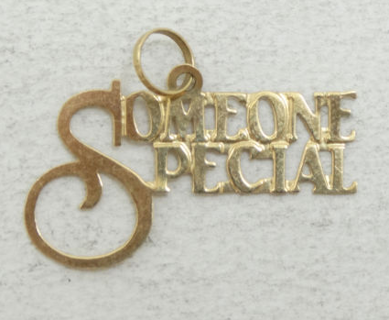 "14K Yellow Gold ""Someone Special"" Charm Pendant"