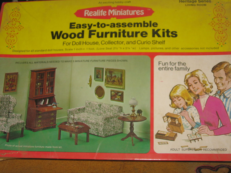 Free: Vintage Reallife Miniatures Heritage series Wood Furniture Kit