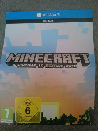 Free: Minecraft Windows 10 Edition Microsoft Key - Video