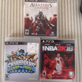 Sky landers, assassins Creed 2 & NBA 2k16 for PS3
