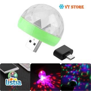 Mini USB Led Light Lights Luces Glow In The Dark Crystal Portable Stage Toys For Christmas Party