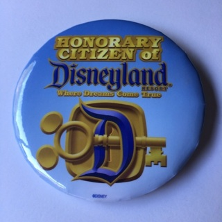 Button - Honorary Citizen of Disneyland