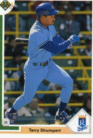 1991 Upper Deck Baseball Card Royals Terry Shumpert