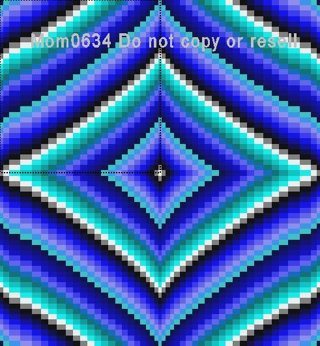 Free: Diamonds Bargello Quilt Pattern PDF File ~ Quick