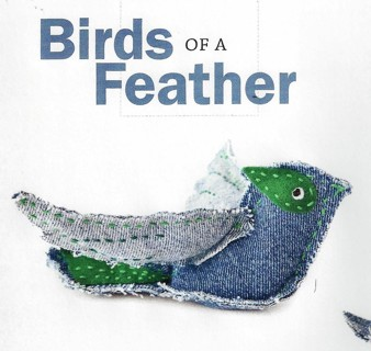 """NEW """"BIRDS OF A FEATHER""""-RECYCLE DENIM JEANS AND MAKE A FLOCK OF THESE-FREE SHIP"""