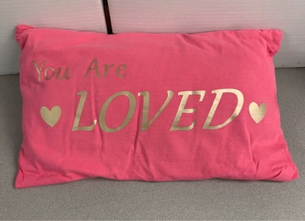 You Are Loved Handmade T-shirt Pillow