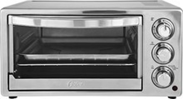 Oster - 6-Slice Toaster Oven - Stainless-Steel/Silver